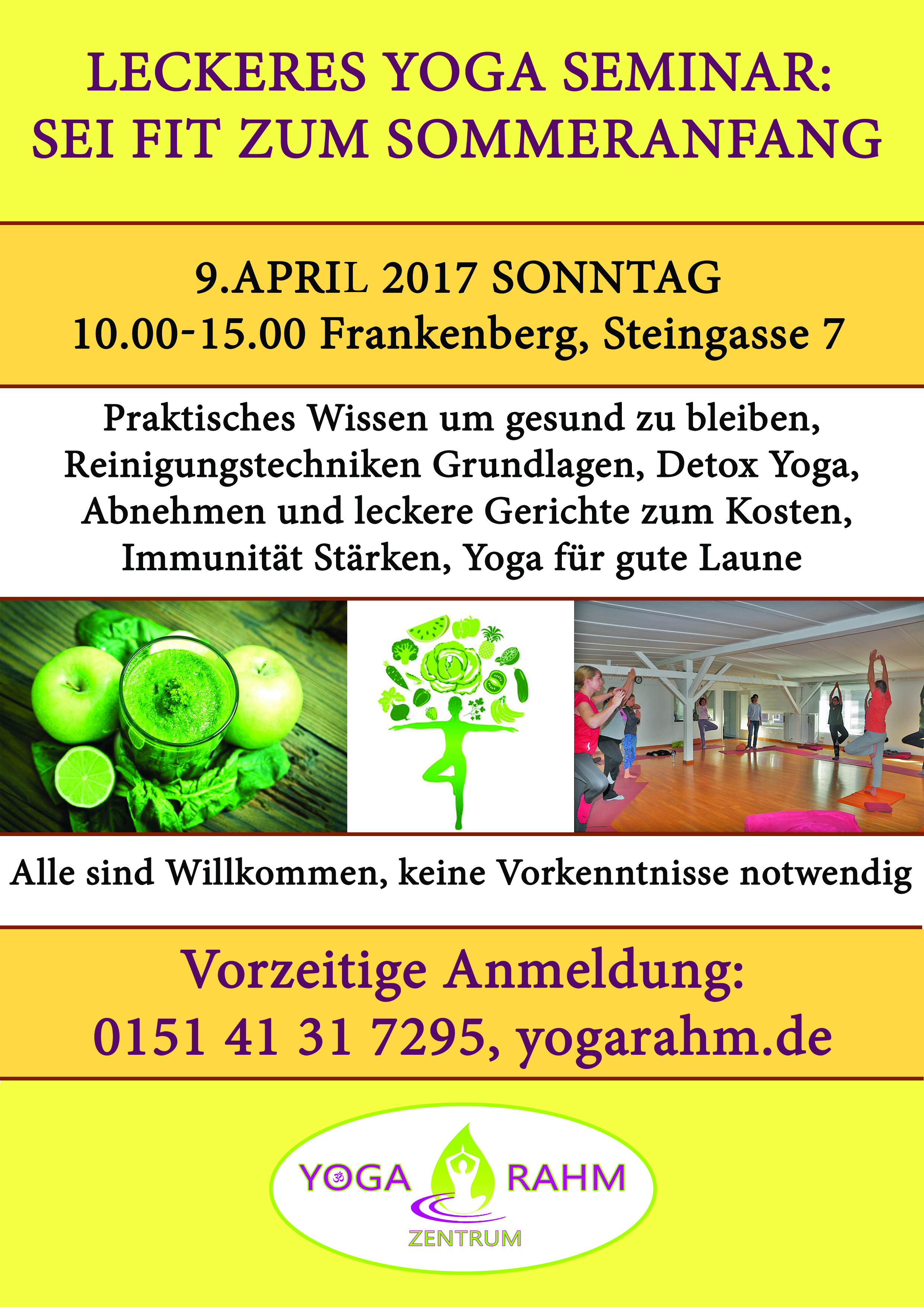 Leckeres Yoga 9 april 2017